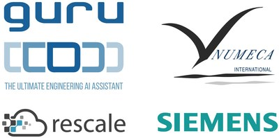 GURU, Numeca, Rescale, Siemens logos