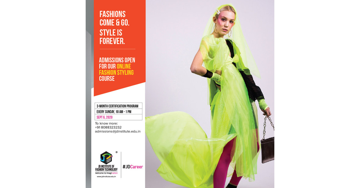 Jd Institute Announces The Commencement Of Fashion Styling Online Certification Program