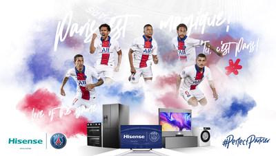 Hisense annonce avoir noué un partenariat mondial avec le Paris Saint Germain