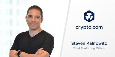 Crypto.com Appoints Steven Kalifowitz as Chief Marketing Officer (PRNewsfoto/Crypto.com)