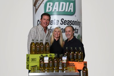NFL Hall of Famer Dan Marino, CEO of Dan Marino Foundation Mary Partin and President of Badia Spices, Inc. Joseph