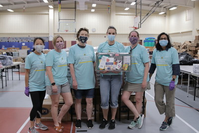 Employees from Galderma donated their time Saturday to pass out 1,200 donated backpacks filled with school supplies to families at NISD's Hatfield Elementary.