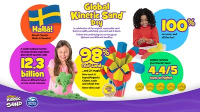 Global Kinetic Sand Day celebrates the original, squeezable sand that is so oddly satisfying, you can't put it down. (CNW Group/Spin Master)