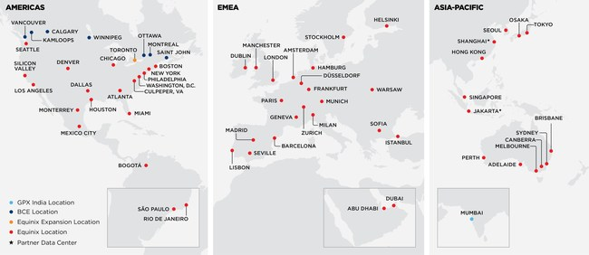 Global Reach of Platform Equinix with Indian Operations