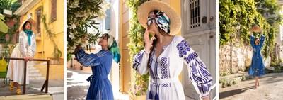 """وقد أطلقت ZALXNDRA حملة """"لا تنسني أيها الصيف"""". عُقدت جلسة التصوير في وجهة تتميز بإطلالات مشمسة في جميع أرجاء اليونان، وزاخرة بالألوان النابضة بالحياة وعبق الثقافة والتاريخ."""