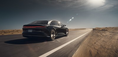 The forthcoming Lucid Air has achieved an estimated EPA range of 517 miles per charge, making it the longest range electric vehicle to date and creating a new benchmark for EVs.