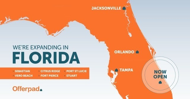 Offerpad debuts its Real Estate Solutions Center in Port St. Lucie as the first iBuyer in the region.