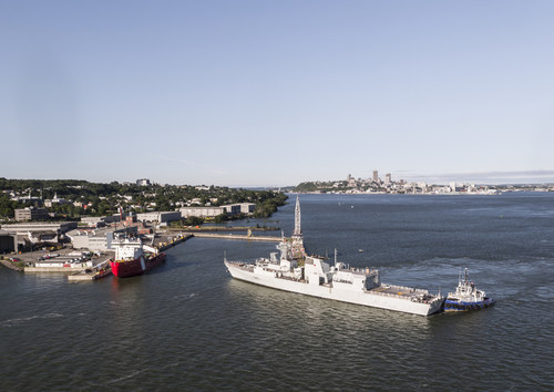 Davie makes history with the return of the Royal Canadian Navy frigates. (CNW Group/Davie Shipbuilding)