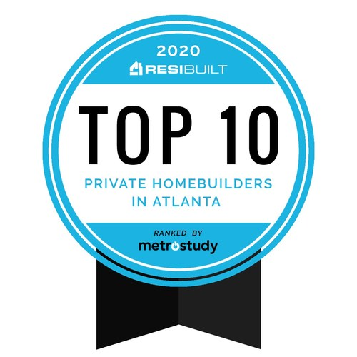 ResiBuilt ranked as a Top 10 Private Buider in Atlanta by Metrostudy for 2020.