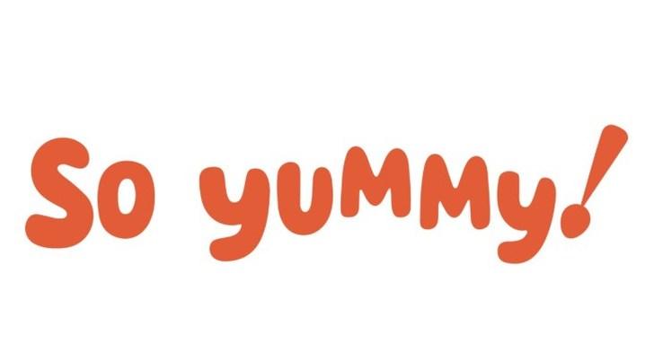 Yumyum Yummy Hand Written Word Stock Illustration