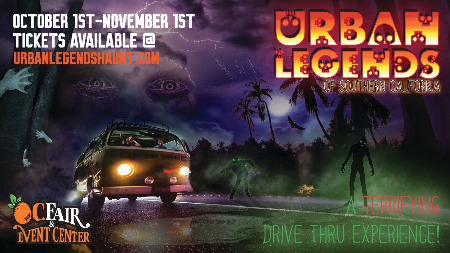 """Innovative Halloween Haunt Drive-Thru Experience Entitled """"Urban Legends of  Southern California"""" to Take Place October 1 - November 1 at The OC Fair &  Event Center"""