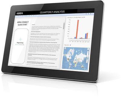 Arria Connect pone las capacidades de integración directamente en manos de los desarrolladores que quieren incluir NLG en su propia herramienta de inteligencia empresarial, aplicación de análisis, sitio web o flujo de trabajo de automatización de procesos. (PRNewsfoto/Arria NLG)