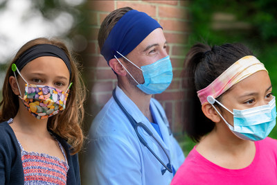 Comforband, the most comfortable, stylish headbands with buttons for ear-relief from masks.