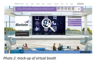 mock-up of virtual booth