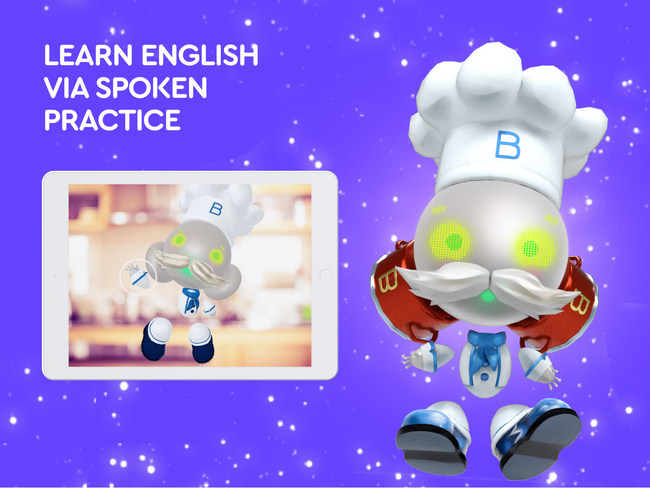 Practice pronunciation and develop vocabulary while playing with Buddy the Robot, a virtual English tutor for kids with voice-based AI.