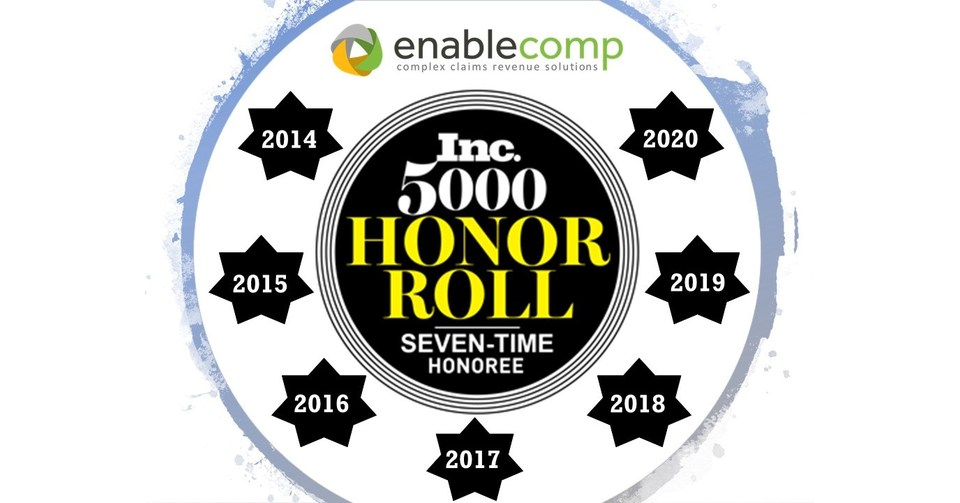 Enablecomp Honored On The Inc 5000 List For The Seventh Consecutive Year