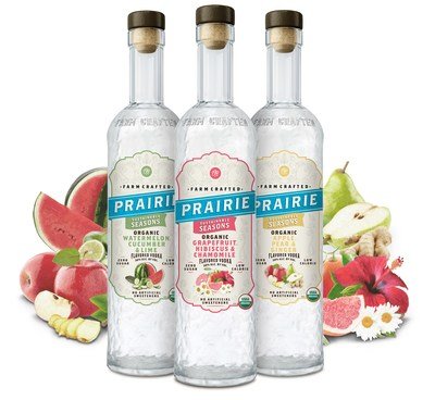 Prairie Organic Spirits is expanding its portfolio of farm-crafted spirits with the launch of its first-ever vodka botanicals collection, Prairie Organic Sustainable Seasons, in three delicious new flavors – Grapefruit, Hibiscus & Chamomile; Watermelon, Cucumber & Lime; and Apple, Pear & Ginger.