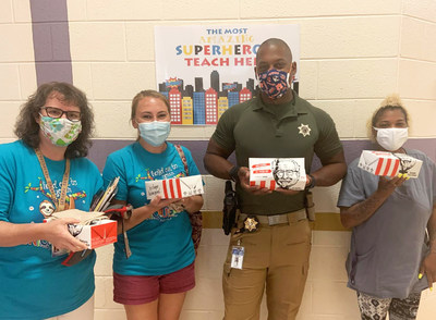 Local franchisees recently donated meals to teachers and staff at Thomas Crossroads Elementary in Sharpsburg, GA. as a token of appreciation from KFC. Starting on August 20, KFC fans can tweet at KFC using the hashtag #KFCback2school and #sweepstakes to nominate a teacher from their local community for a chance to receive a KFC gift card.