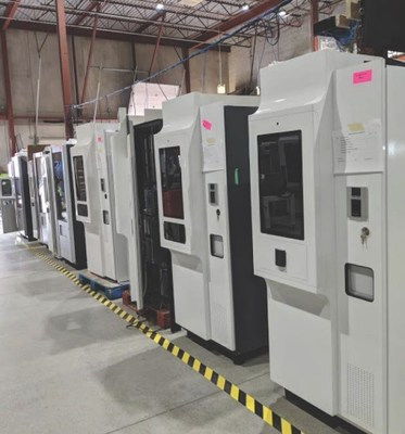 MySafe kiosks in production, July 2020. (CNW Group/Dispension Industries Inc.)