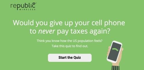 Republic Wireless Tax Quiz