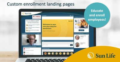 Sun Life customized benefits landing page for employers
