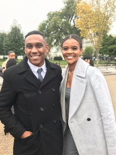 Mark Lutchman With Political Activist Candace Owens