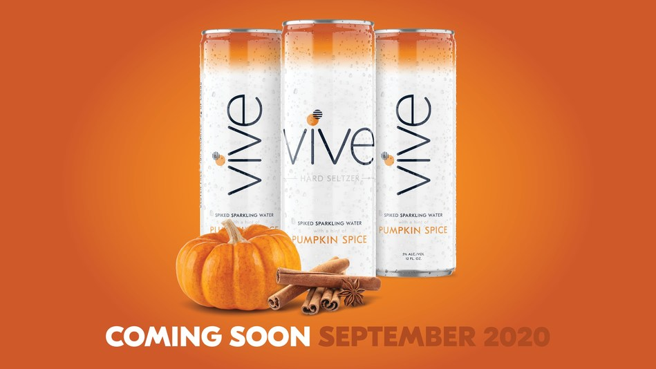 """FIRST TO MARKET: VIVE's New Pumpkin Spice-Flavored Seltzer Hits Store Aisles in September With Plans to Win the """"Season of Pumpkin"""""""
