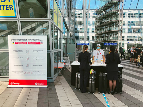 Bavarian State Office for Health and Food Safety has awarded Ecolog to perform COVID-19 Tests at Airports in Bavaria, Germany.