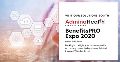 Meet AdminaHealth® in the Solutions Booth at BenefitsPRO Virtual Broker Expo 2020