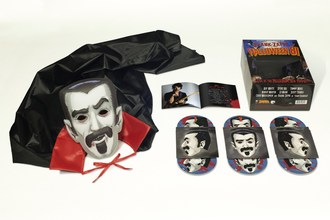 For the first-time ever, Frank Zappa's historic October 31 Halloween night concerts and the closing November 1 show recorded live at The Palladium in 1981 will be released on October 2 via Zappa Records/UMe as a gigantic six-disc box set featuring 78 unreleased live tracks and a Count Frankula mask and cape.