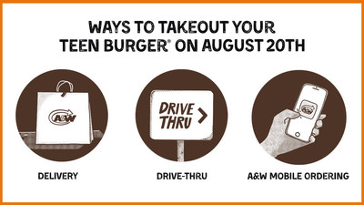 A&W Canada will donate $2 from every Teen Burger® sold on Take Out Burgers to Beat MS Day this Thursday, August 20, to the MS Society of Canada (CNW Group/A&W Food Services of Canada Inc.)