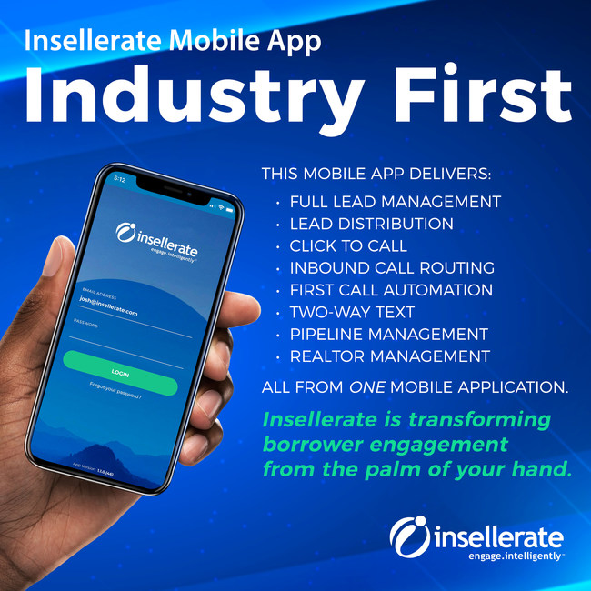 Introducing the Next Wave of Mortgage Technology. The first of its kind solution for the mortgage industry, Insellerate's Sales & Marketing Engagement Mobile App automates In-bound call routing, lead distribution, full lead management, remote call tracking, click to call, and pipeline management. It even automates multi-channel marketing through social media, email, direct mail, text, and more.