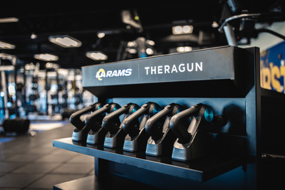 Therabody named proud partner of the Los Angeles Rams, supporting player training and recovery.