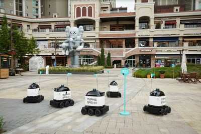 """Woowa Brothers Corp. (CEO Bomjun Kim), the mother company that runs """"Baedal Minjok"""" (hereinafter Baemin) has started a delivery service using self-driving outdoor delivery robot, """"Dilly Drive,"""" at """"Gwanggyo Alley Way,"""" a multipurpose housing complex in Gwanggyo, Suwon city."""