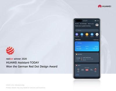 HUAWEI Assistant · TODAY ganhou o Red Dot Award: Brands & Communication Design (design de marcas e comunicação) (PRNewsfoto/Huawei)