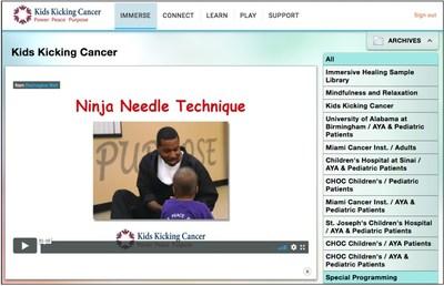 (Kids Kicking Cancer Infusionarium platform)