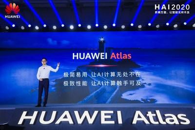 Tony Xu pronunciando un discurso en la HAI 2020 (PRNewsfoto/Huawei)