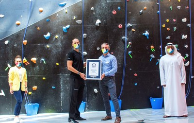 "CLYMB™ Abu Dhabi Awarded ""World's Tallest Indoor Artificial Climbing Wall"" GUINNESS WORLD RECORDS™ title (PRNewsfoto/CLYMB™ Abu Dhabi)"