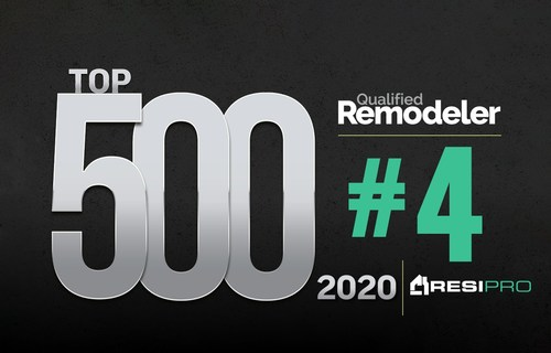 ResiPro ranked as #4 on the 2020 Qualified Remodeler Top 500 List for largest remodelers in the U.S. This is the second consecutive year that ResiPro has landed in the top five of the list.