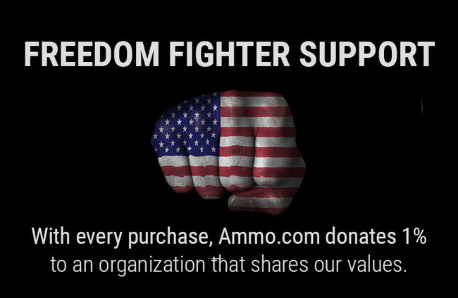 With every purchase, Ammo.com donates 1% to an organization that shares our values.