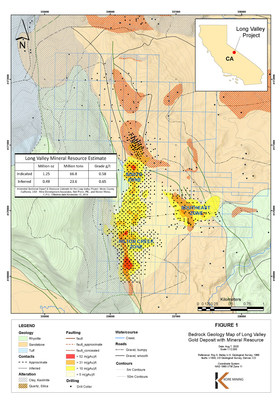 Figure 1 – Claim Maps with Resource Footprint and Geology (CNW Group/Kore Mining)
