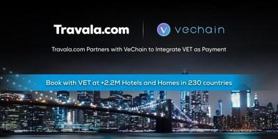 VeChain se asocia con Travala.com para integrar VET como pago mundial para 2,2 millones de hoteles