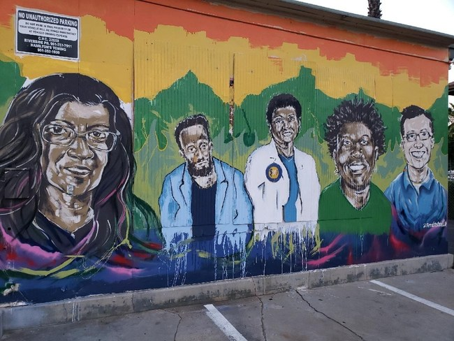 Organized by Arts for IE—a regional arts committee made up of the Riverside Arts Council, Arts Connection and Music Changing Lives—the mural series is a grassroots effort to enhance the walls of downtown streets with messages of hope, peace and inspiration.