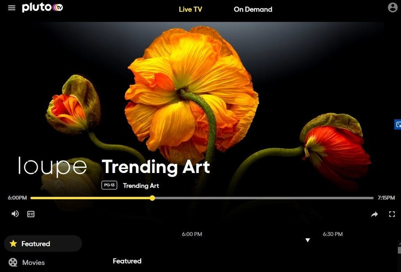 "Loupe + Pluto TV launched a new channel featuring Trending Art timed to instrumental music. Vibe out to pieces by artists from around the globe. Featured here: ""Poppies"" by Parish Kohanim."