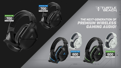 The new Turtle Beach Stealth 700 and 600 Gen 2 wireless gaming headset levels-up the #1 selling wireless console gaming headset for even more powerful game sound, crystal clear chat, unmatched long-session comfort, and a variety of premium features for $149.95 and $99.95, respectively.