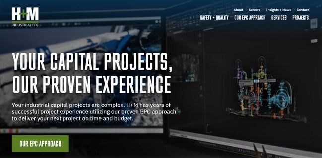 Screenshot of New H+M Website Homepage