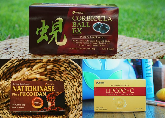 smaller Nattokinase plus Fucoidan, upgraded formula Corbicula Ball EX and brand new Lipopo-C