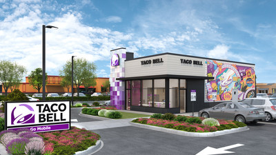 Taco Bell has unveiled its most modern brand expression yet: Taco Bell Go Mobile. The new restaurant concept allows Taco Bell to push the boundaries of the QSR customer experience even further with the addition of several digital features.