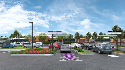 Taco Bell Go Mobile restaurants will have two drive-thru lanes including a new priority pick-up lane with rapid service for customers who order via the Taco Bell app. This new lane will supplement the existing, traditional lane.
