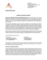 Africa Oil Kenya Update (CNW Group/Africa Oil Corp.)